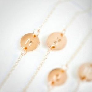Jewelry - NWT S and M Dainty Rose Gold Initial Bracelet